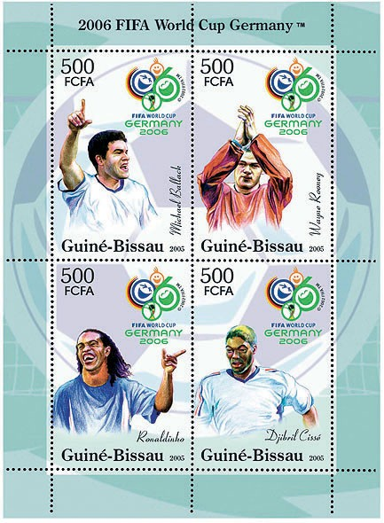 Football Germany 2006 4v x 500 - Issue of Guinée-Bissau postage stamps