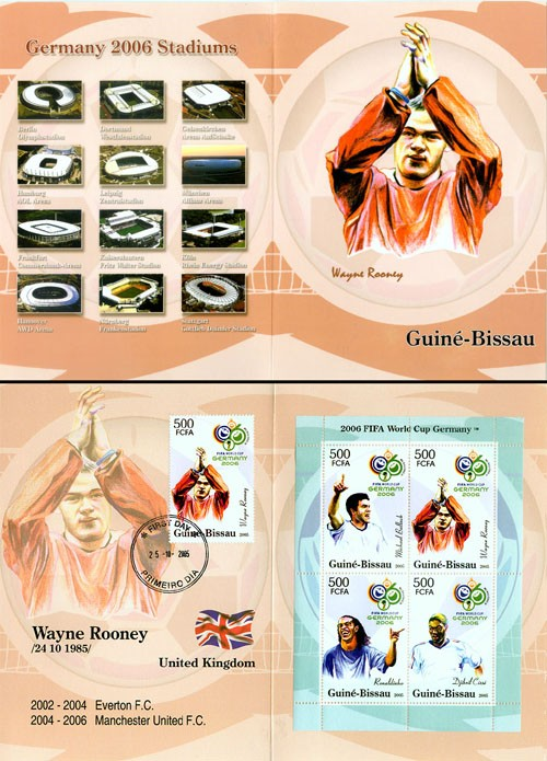 Football Germany 2006 4 x 3500 - Issue of Guinée-Bissau postage stamps