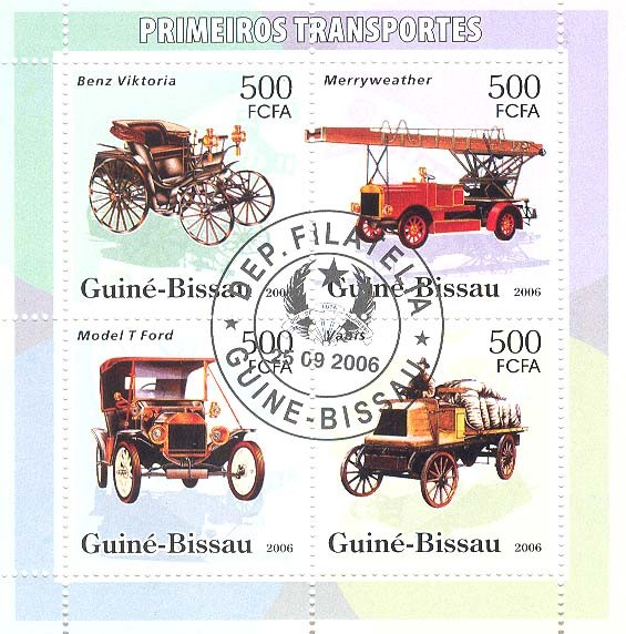 Early transports 4v x 500 (CTO) - Issue of Guinée-Bissau postage stamps