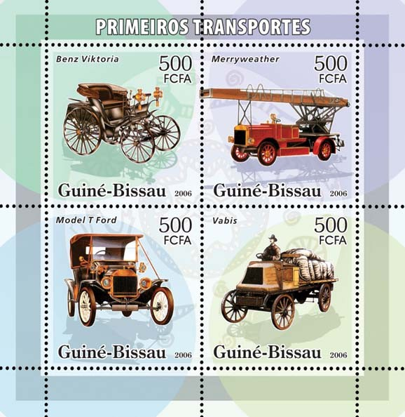 Early transports 4v x 500 - Issue of Guinée-Bissau postage stamps