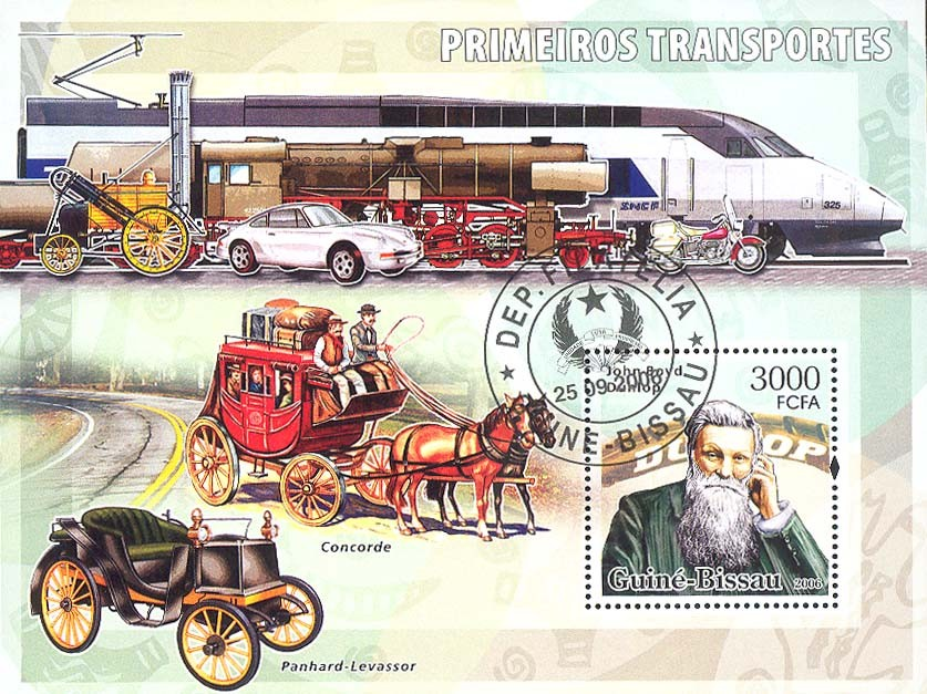 Early transports (Dunlop) S/s 3000 (CTO) - Issue of Guinée-Bissau postage stamps