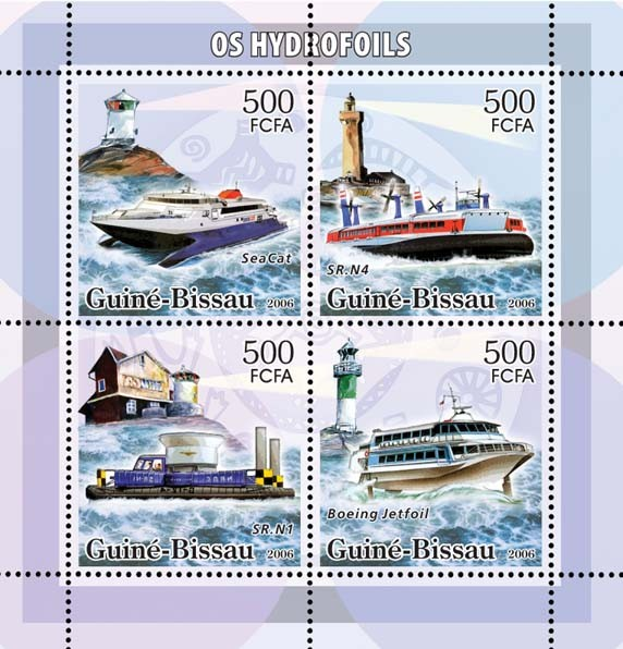 Hydrofoils & lighthouses 4v x 500 - Issue of Guinée-Bissau postage stamps
