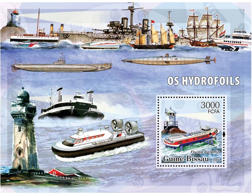 Hydrofoils & lighthouses S/s 3000 - Issue of Guinée-Bissau postage stamps