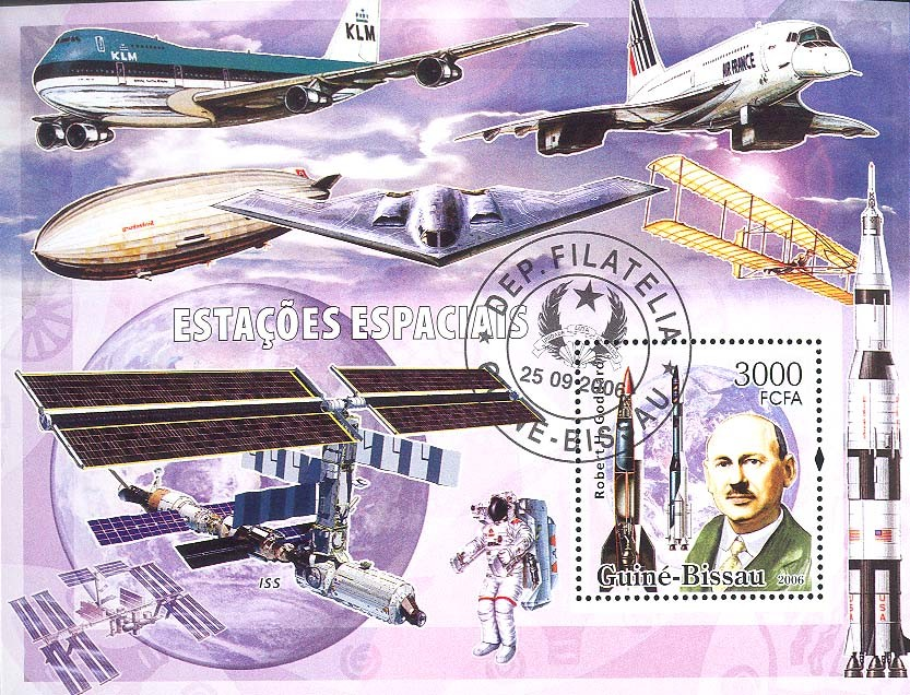 Space stations S/s 3000 (CTO) - Issue of Guinée-Bissau postage stamps