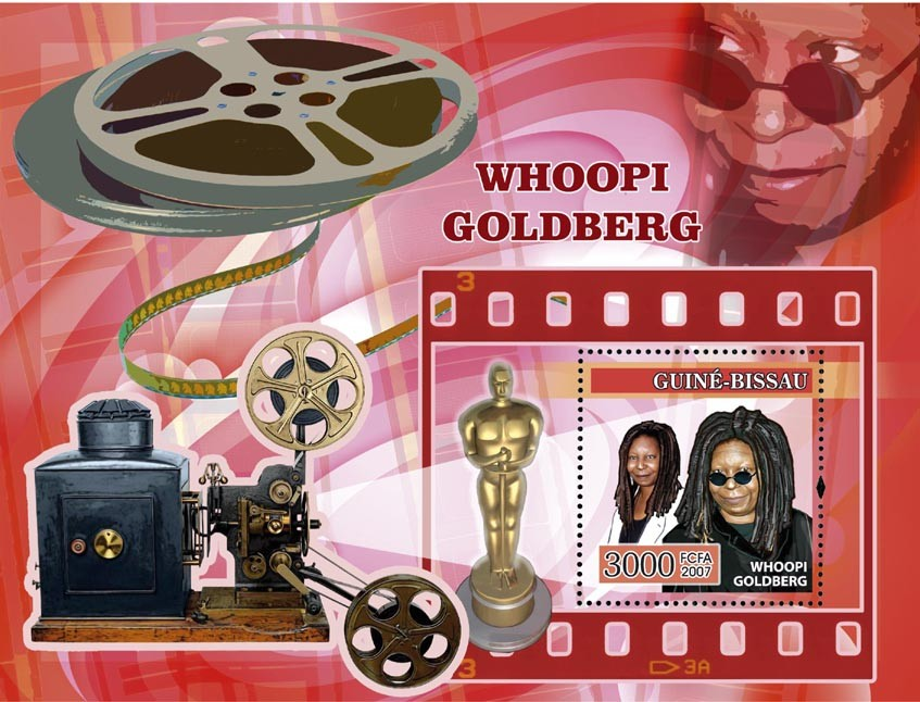 Whoopi Goldberg (cinema) s/s 3000 - Issue of Guinée-Bissau postage stamps