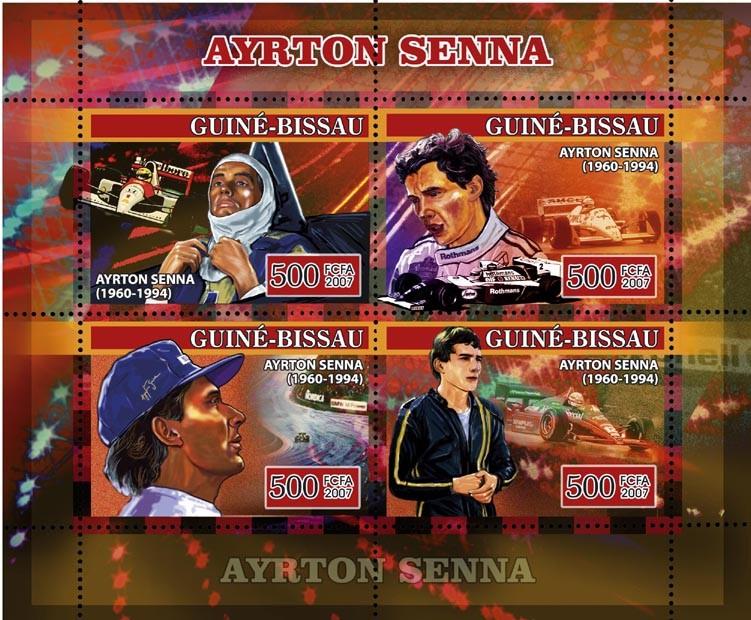 Formula Ayrton Senna 4v x 500 - Issue of Guinée-Bissau postage stamps