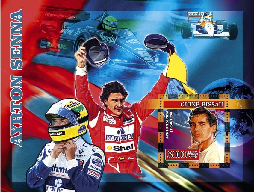 Formula Ayrton Senna s/s 3000 - Issue of Guinée-Bissau postage stamps