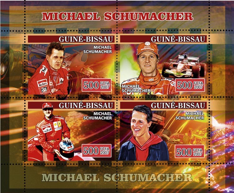 Formula Michael Schumacher 4v x 500 - Issue of Guinée-Bissau postage stamps
