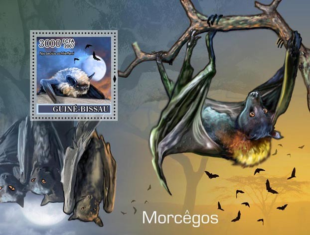 Bats S/s 3000 - Issue of Guinée-Bissau postage stamps