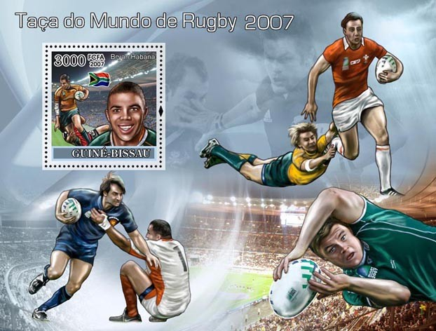 Rugby World Cup 2007 S/s 3000 - Issue of Guinée-Bissau postage stamps