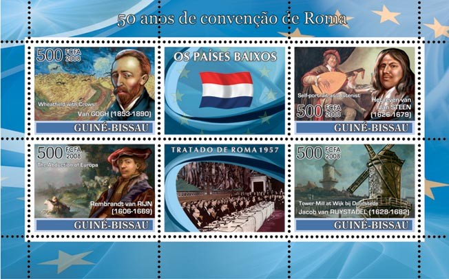 Netherlands  - Issue of Guinée-Bissau postage stamps
