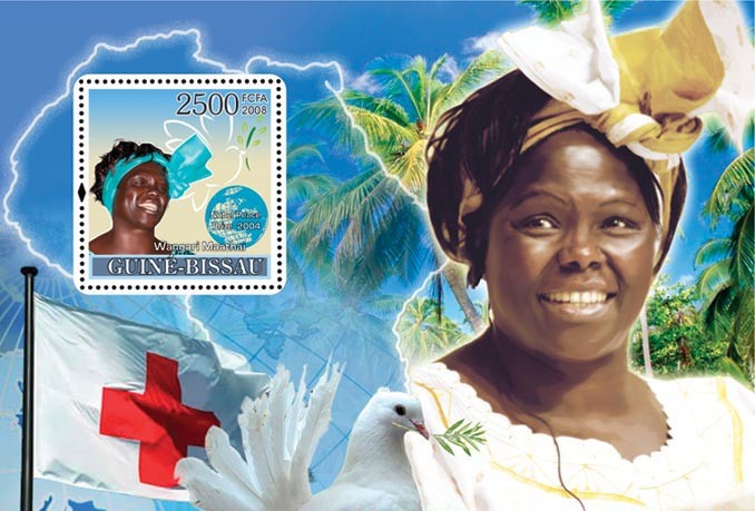 Ladies Heroes of Peace I - Nobel Prize Winner - Red Cross - Issue of Guinée-Bissau postage stamps