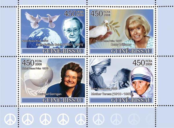 Ladies Heroes of Peace II - Nobel Prize Winners - Issue of Guinée-Bissau postage stamps