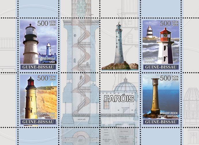 Lighthouses 4v - Issue of Guinée-Bissau postage stamps
