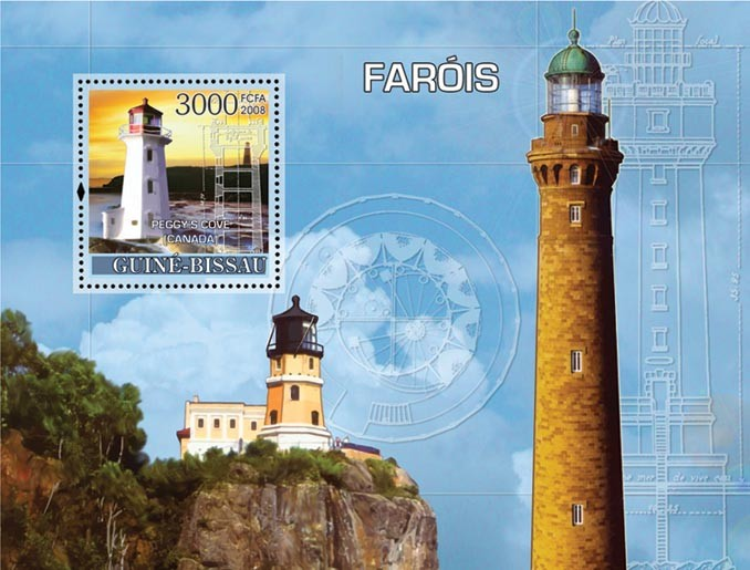 Lighthouses s/s - Issue of Guinée-Bissau postage stamps
