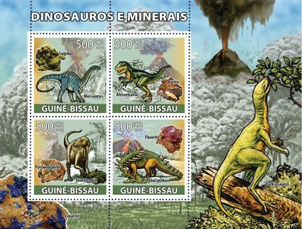 Dinosaurs & minerals - Issue of Guinée-Bissau postage stamps