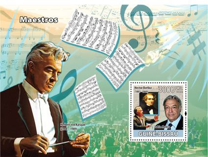 Composers - Issue of Guinée-Bissau postage stamps