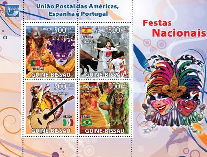 National festivals, UPAEP - Issue of Guinée-Bissau postage stamps