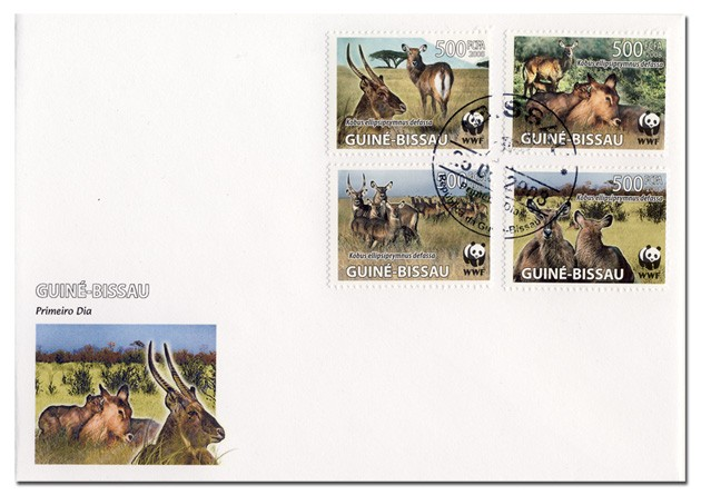 WWF Set of 4 values - FDC - Issue of Guinée-Bissau postage stamps