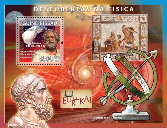 Descriptors of physic ( Archimedes) - Issue of Guinée-Bissau postage stamps