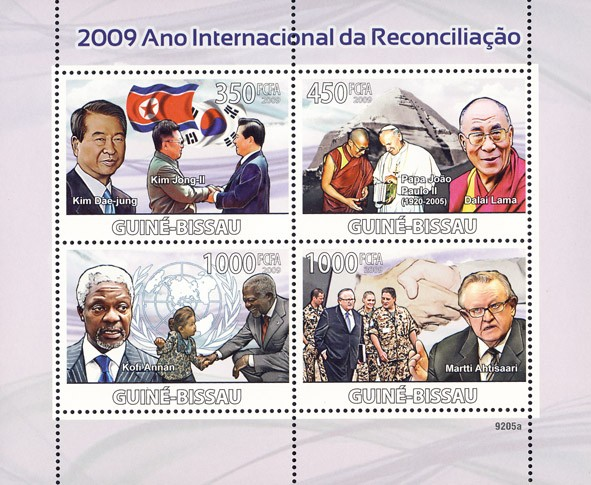 2009 Year of Reconciliation - Issue of Guinée-Bissau postage stamps
