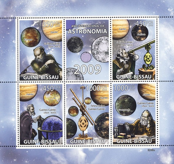 2009 Year of Astronomic (Galileo Galilei 1564-1643) - Issue of Guinée-Bissau postage stamps