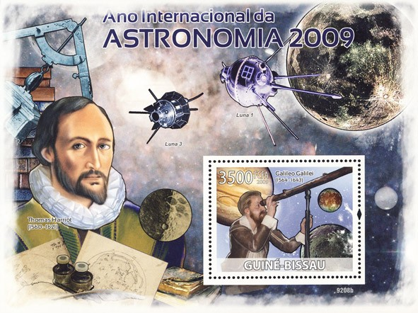 2009 Year of Astronomic (Galileo Galilei, T.Harriot) - Issue of Guinée-Bissau postage stamps