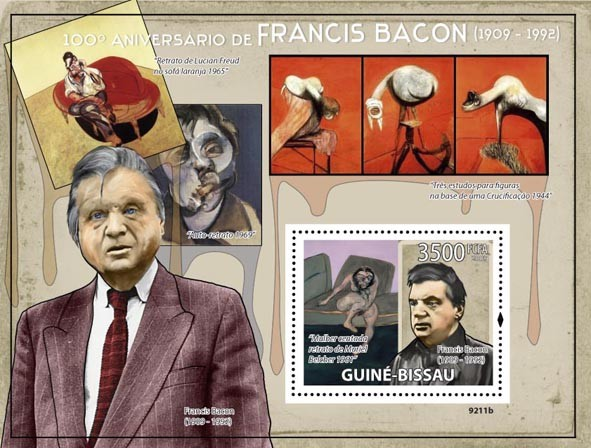 Paintings of Francis Bacon (1909-1992) - Issue of Guinée-Bissau postage stamps