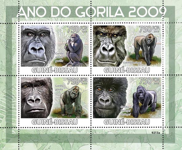 2009 Year of Gorilla - Issue of Guinée-Bissau postage stamps