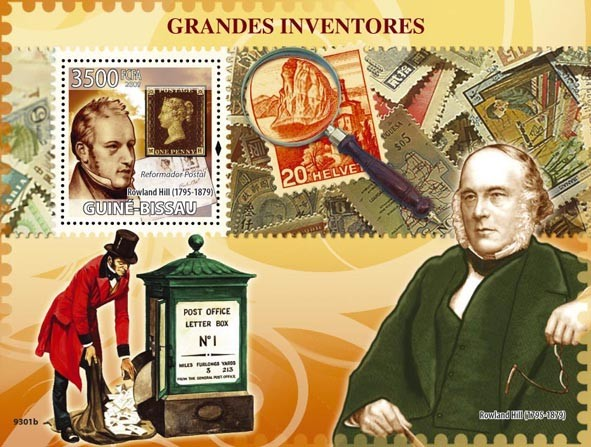 Greatest Inventors (R.Hill - Postal Reformer) - Issue of Guinée-Bissau postage stamps