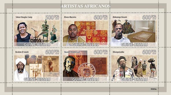 Artists of Africa (S.D.Camp, A.Mecieira, A.Konate, I.ei Salahi, S.Boghossian, Dilomprizulike) - Issue of Guinée-Bissau postage stamps