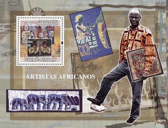 Artists of Africa, (Theodore Asshola, Paintings) - Issue of Guinée-Bissau postage stamps