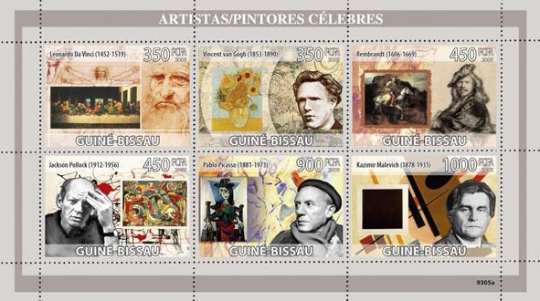 Greatest Painters - Issue of Guinée-Bissau postage stamps
