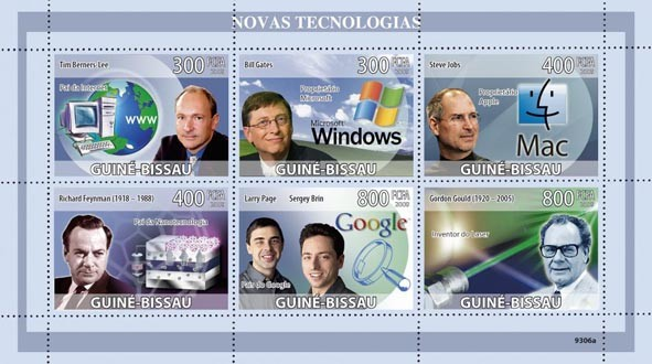 New Technologies (www, Microsoft, Mac, Nano, Google, Laser) - Issue of Guinée-Bissau postage stamps