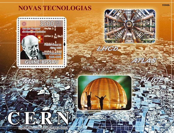 New Technologies (Quantum Mechanics, W.Heisenberg) - Issue of Guinée-Bissau postage stamps