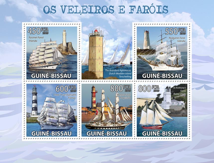 Lighthouses & Sail ships - Issue of Guinée-Bissau postage stamps