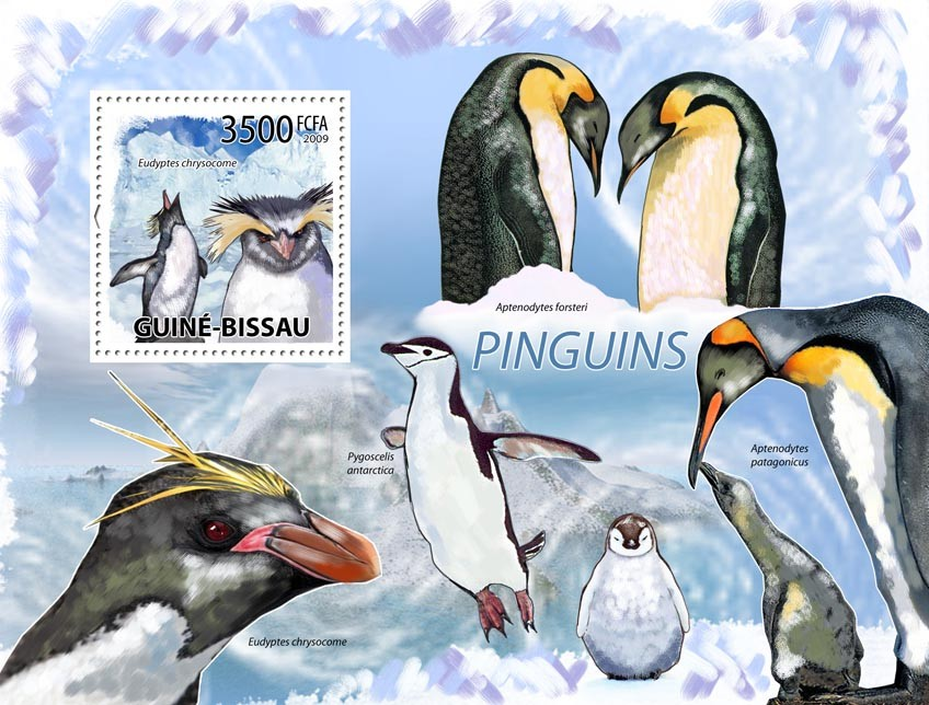 Penguins - Issue of Guinée-Bissau postage stamps