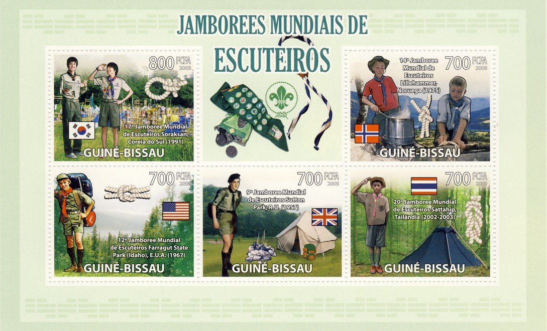 World Scout Jamborees - Issue of Guinée-Bissau postage stamps