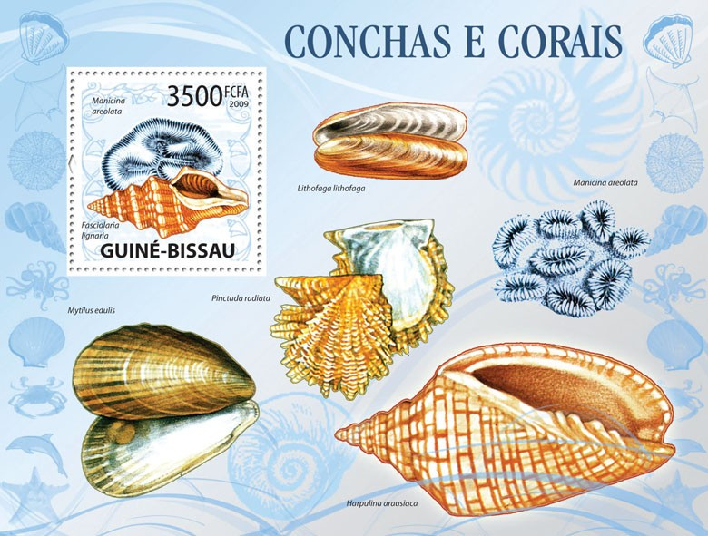 Shells & Corals - Issue of Guinée-Bissau postage stamps