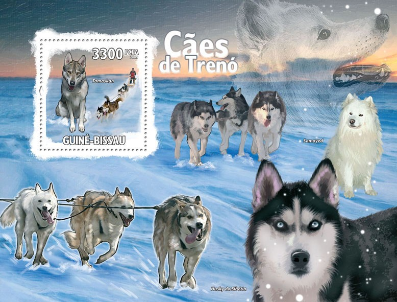 Sled Dogs - Issue of Guinée-Bissau postage stamps