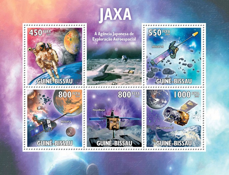 JAXA  Japanese Space  Agency - Issue of Guinée-Bissau postage stamps