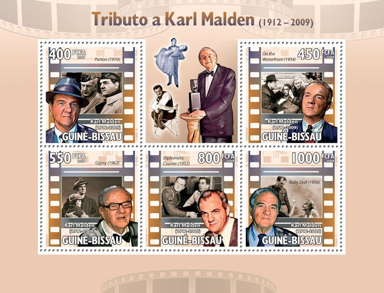 Tribute to Karl Malden (1912-2009) - Issue of Guinée-Bissau postage stamps