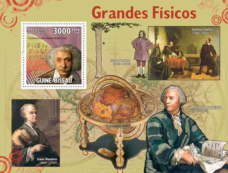 Grand Physics - Issue of Guinée-Bissau postage stamps