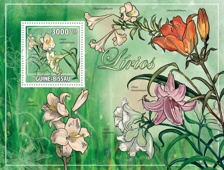 Lilies - Issue of Guinée-Bissau postage stamps