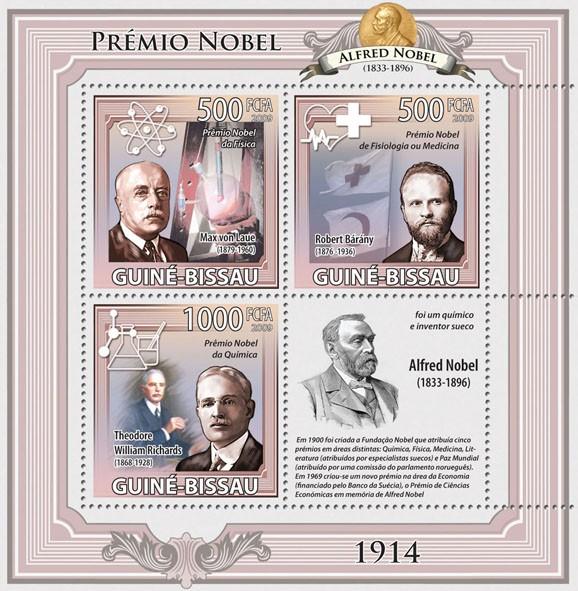 Nobel Prize 1914 Michel nr. 4538-4540 - Issue of Guinée-Bissau postage stamps