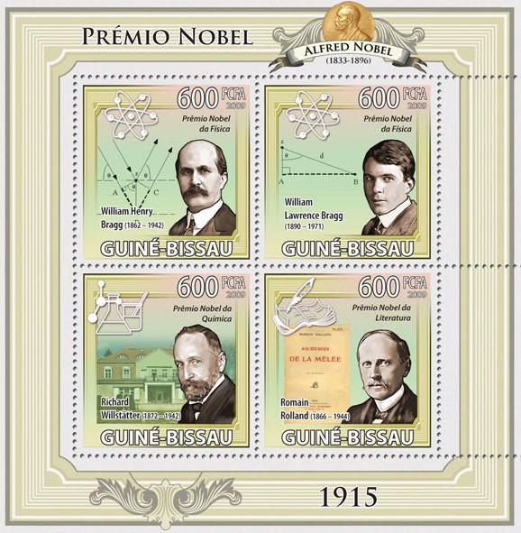Nobel Prize 1915 - Issue of Guinée-Bissau postage stamps