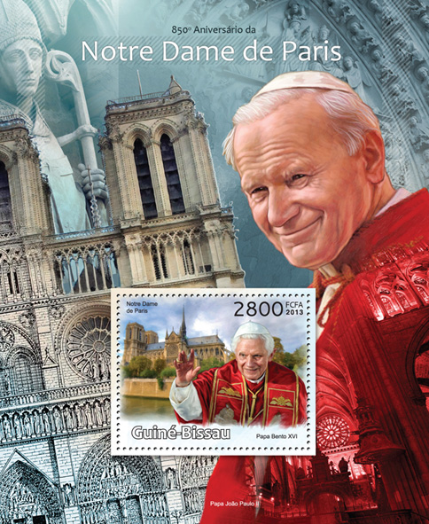John Paul II, Benedict XVI - Issue of Guinée-Bissau postage stamps