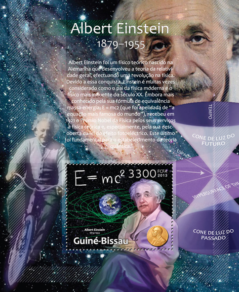 Albert Einstein - Issue of Guinée-Bissau postage stamps