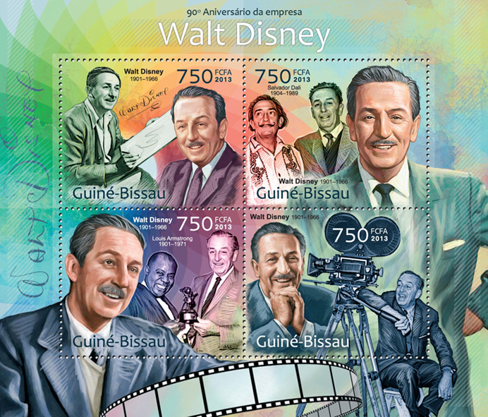 Walt Disney - Issue of Guinée-Bissau postage stamps