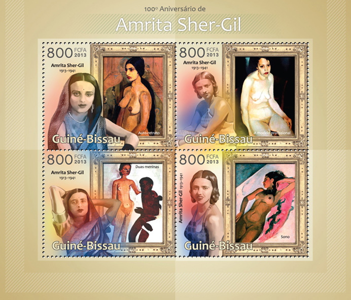 Amrita Sher-Gil - Issue of Guinée-Bissau postage stamps